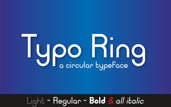 Typo-Ring-Font