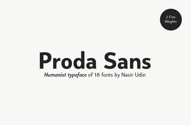 Proda Sans Serif Font