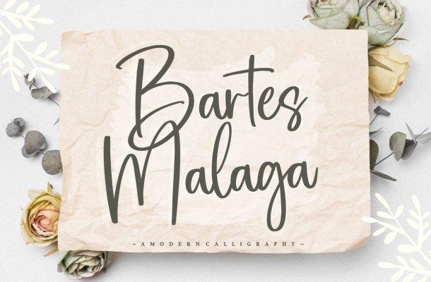 Bartes Malaga Handwritten Font