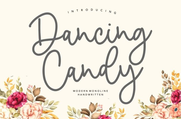 Dancing Candy Handwritten Font