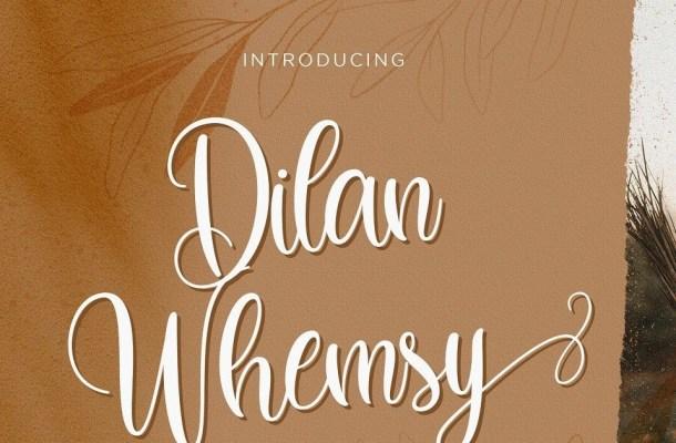 Dilan Whemsy Calligraphy Script Font