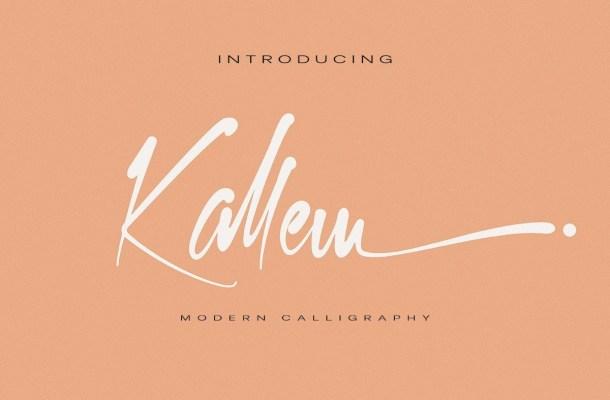 Kallem Handwritten Script Font
