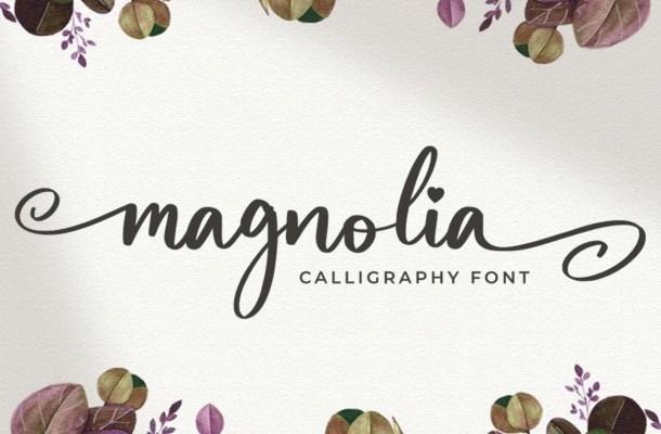 Magnolia Bold Calligraphy Script Font
