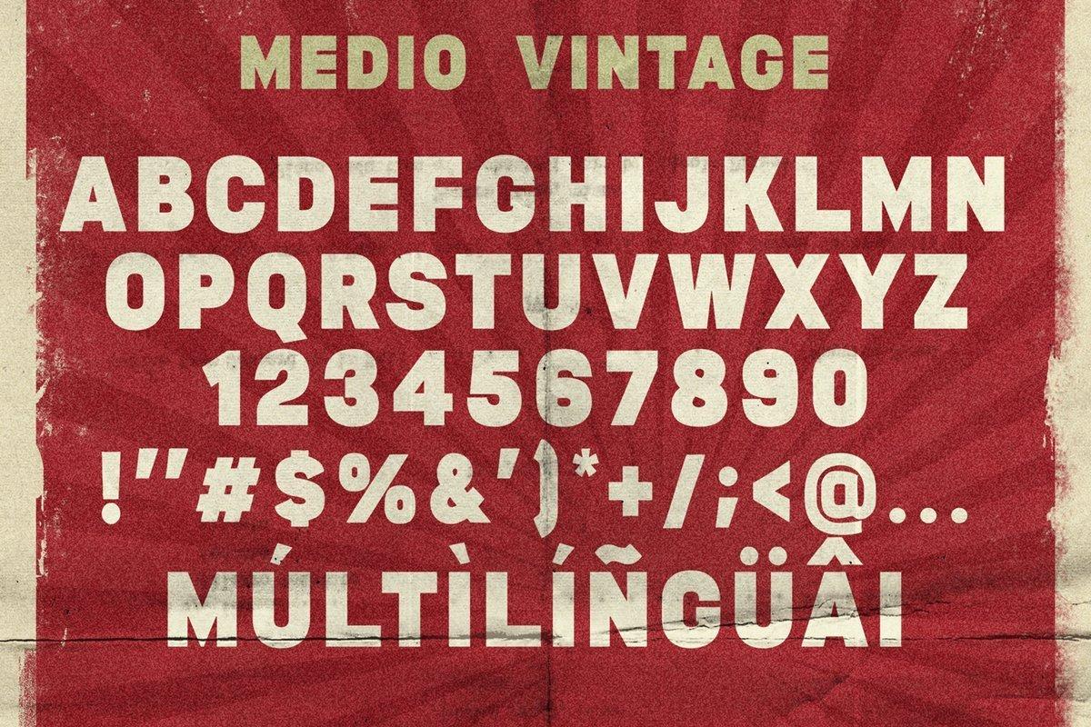Medio-Vintage-Display-Font-3