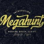 Megahunt Brush Script Font