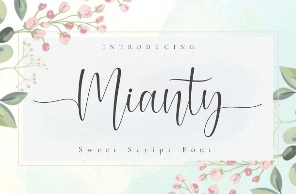 Mianty Calligraphy Script Font