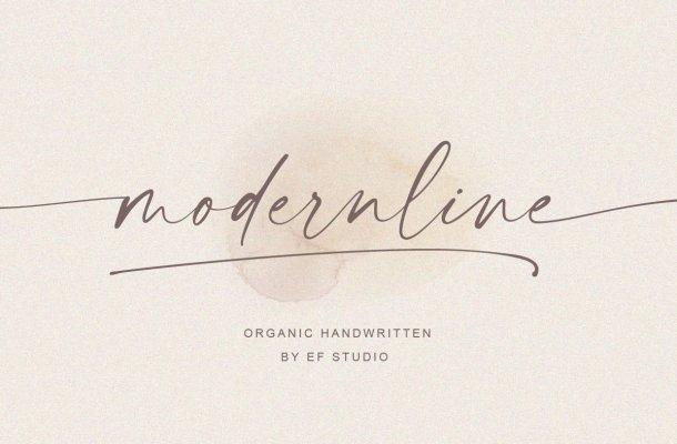 Modernline Signature Handwritten Font