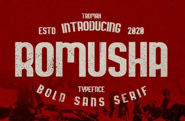 Romusha Bold Sans Serif Font