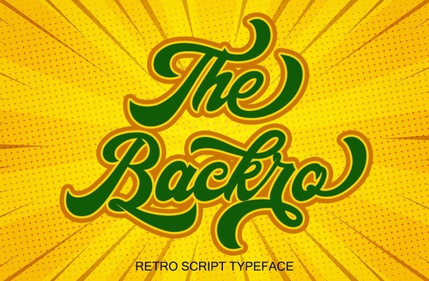 The Backro Calligraphy Script Font