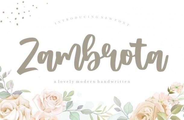 Zambrota Modern Handwritten Font