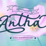 Antha Handwritten Font