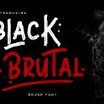 Black Brutal Brush Font