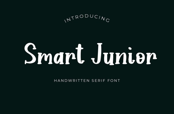 Smart Junior Handwritten Serif Font