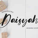 Daisyah Modern Calligraphy Script Font