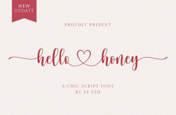 hello honey – a chic script font