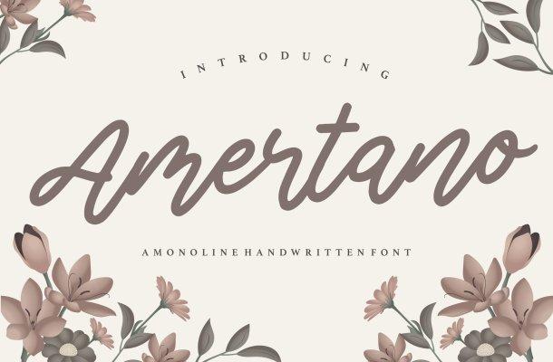 Amertano Monoline Handwritten Font
