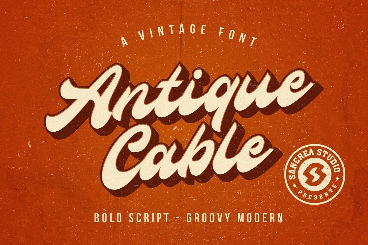 Antique-Cable-Bold-Script-Font-1