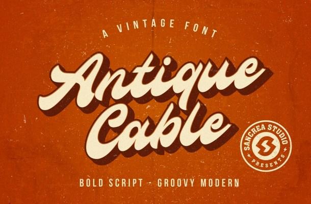 Antique Cable Bold Script Font