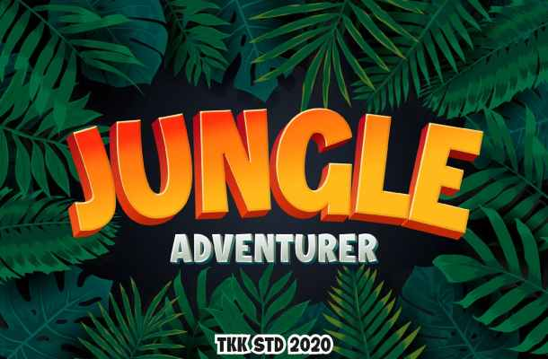 Jungle Adventurer all caps gaming Font