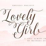 Lovely Girl Calligraphy Script Font