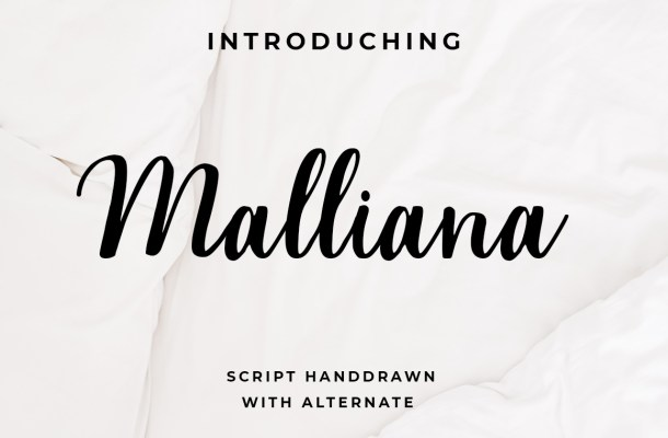 Malliana script Font
