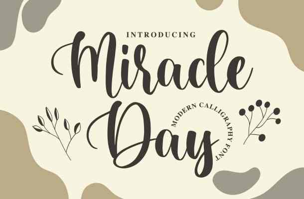 Miracle Day Calligraphy Font