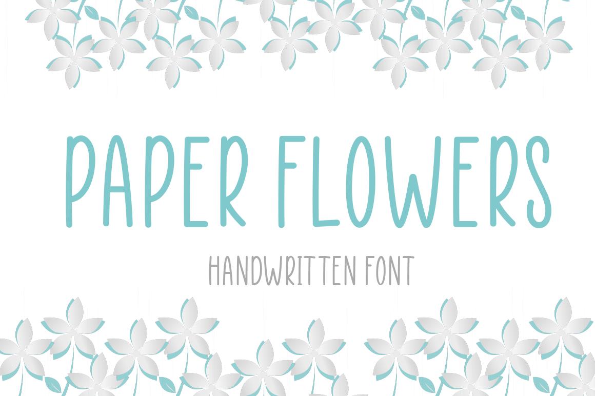 Paper-Flowers-Handwritten-Font-1
