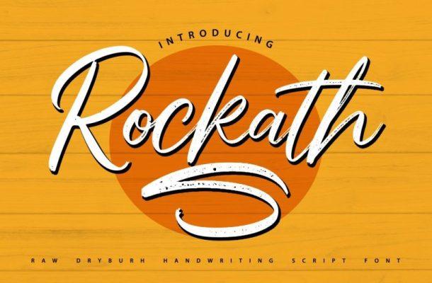 Rockath Handwritten Script Font