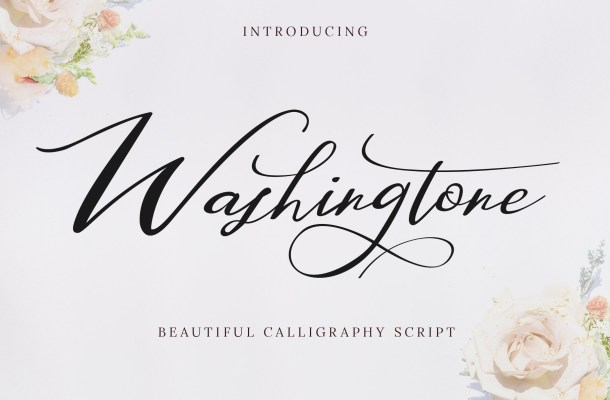 Washington Beautiful Calligraphy Script Font
