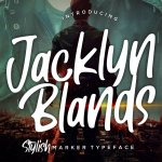 Jacklyn Blands Stylish Marker Font