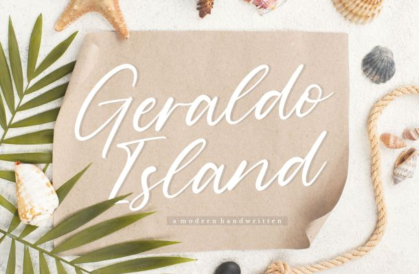 Geraldo Island Modern Handwritten Script Font