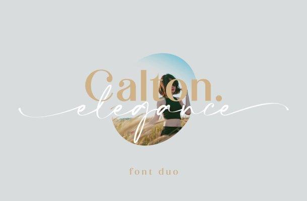 Calton Elegance Font Duo