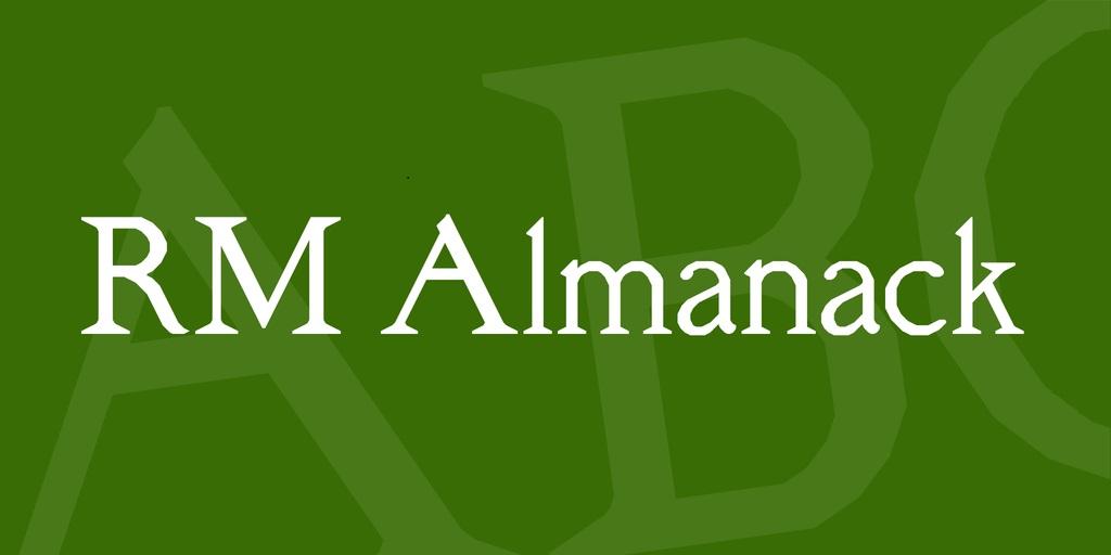 RM-Almanack-Font