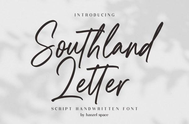 Southland Letter Font