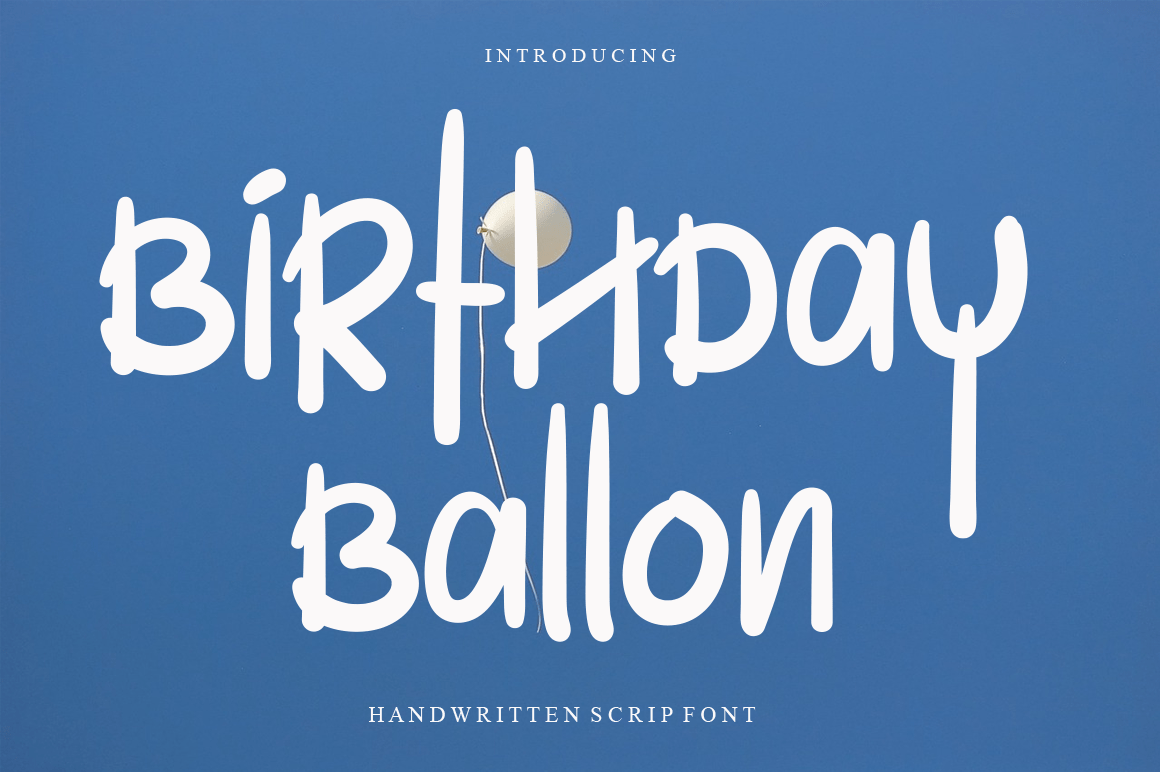 Birthday-Ballon-Font