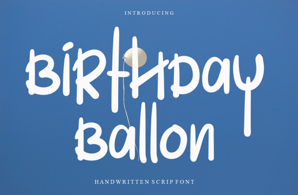 Birthday Ballon Font