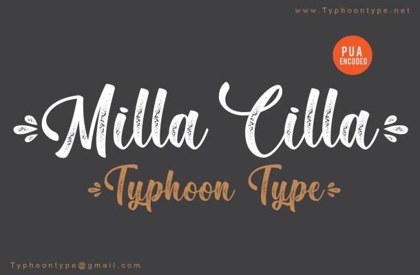 Milla Cilla Font