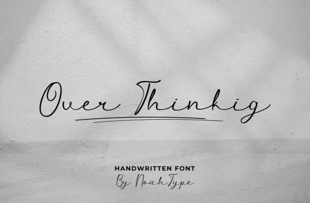 Over Thinking Font
