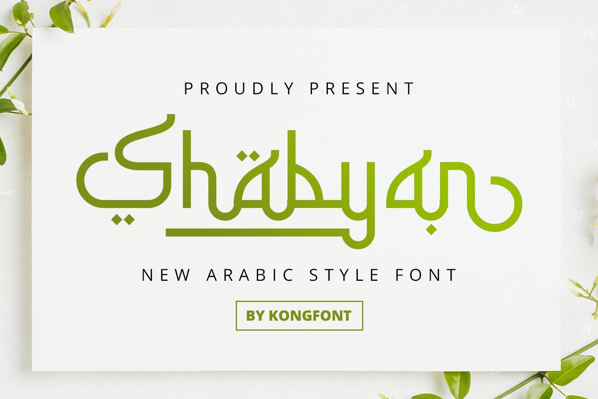 Shabyan-Arabic-Font