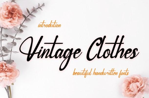 Vintage Clothes Font