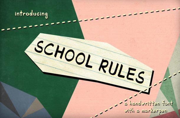 School Rules Script Font