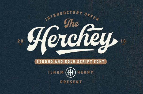 Herchey Script Font