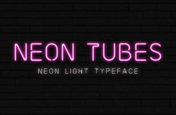 Neon Tubes – Neon Light Font
