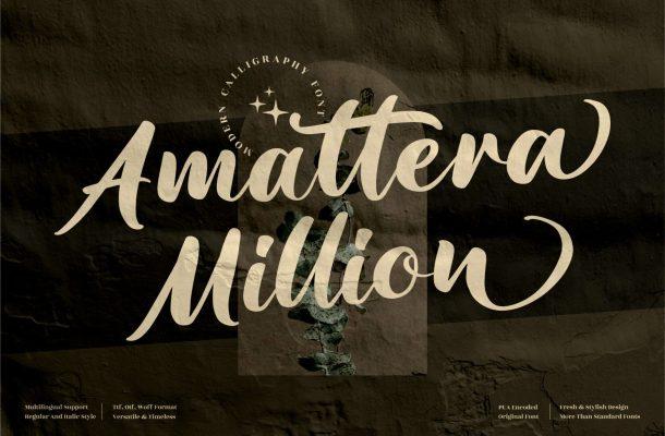 Amattera Million Font