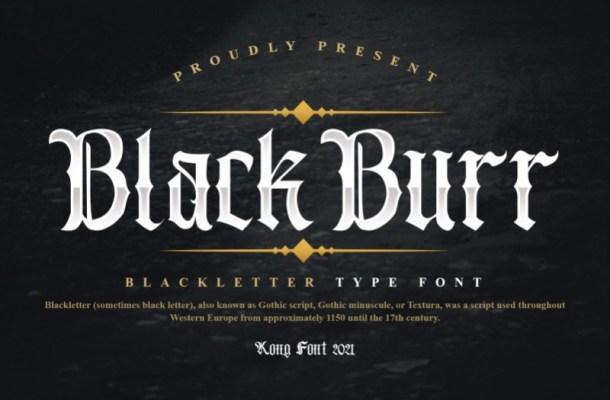 Blackburr Font