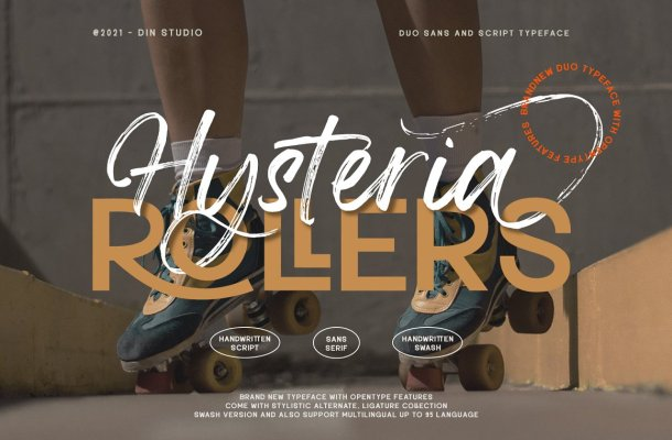 Hysteria Rollers Font