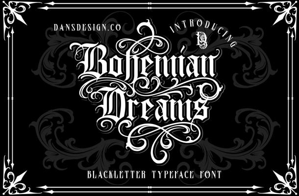 Bohemian Dreams Font