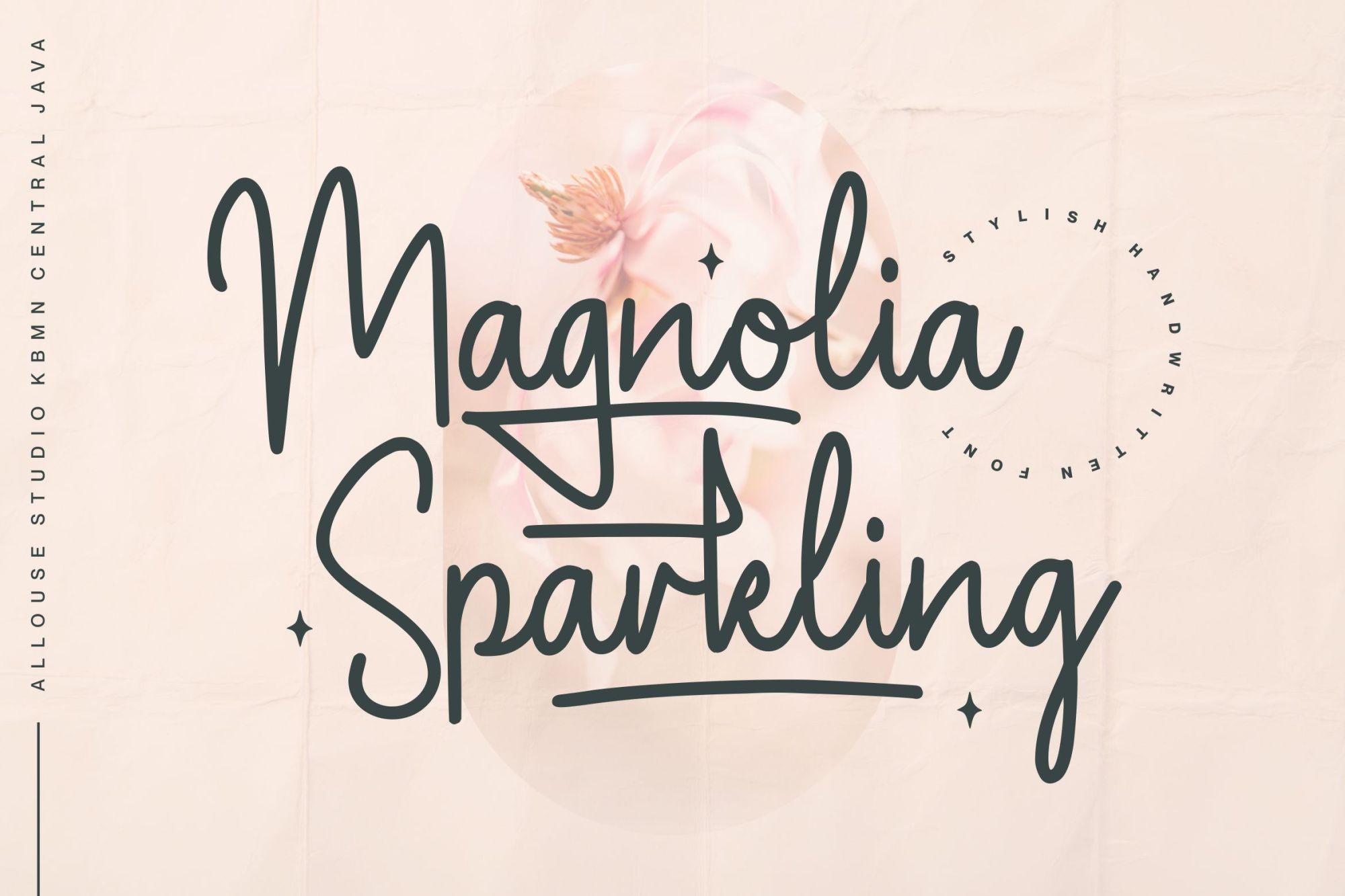 Magnolia-Sparkling-Font