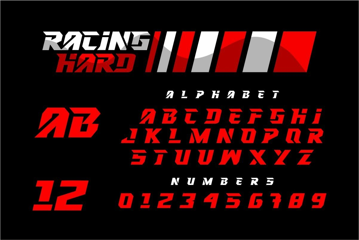 RACING-HARD-Font-2
