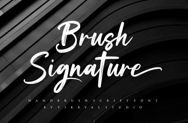 Brush Signature Font